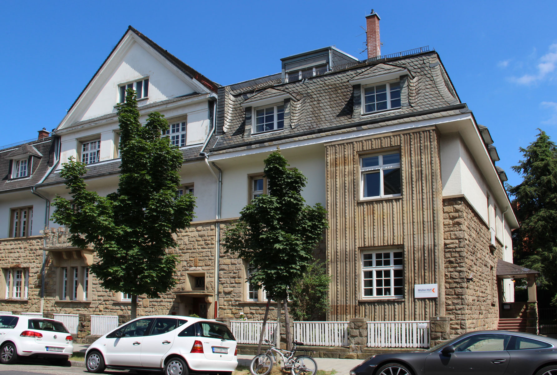Kanzlei Müller-Hof Rechtsanwälte in Karlsruhe - Ansicht von der Beethovenstraße 5