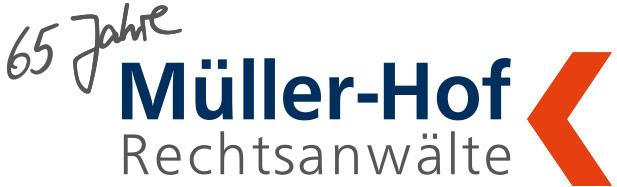 Logo - 65 Jahre Müller-Hof Rechtsanwälte
